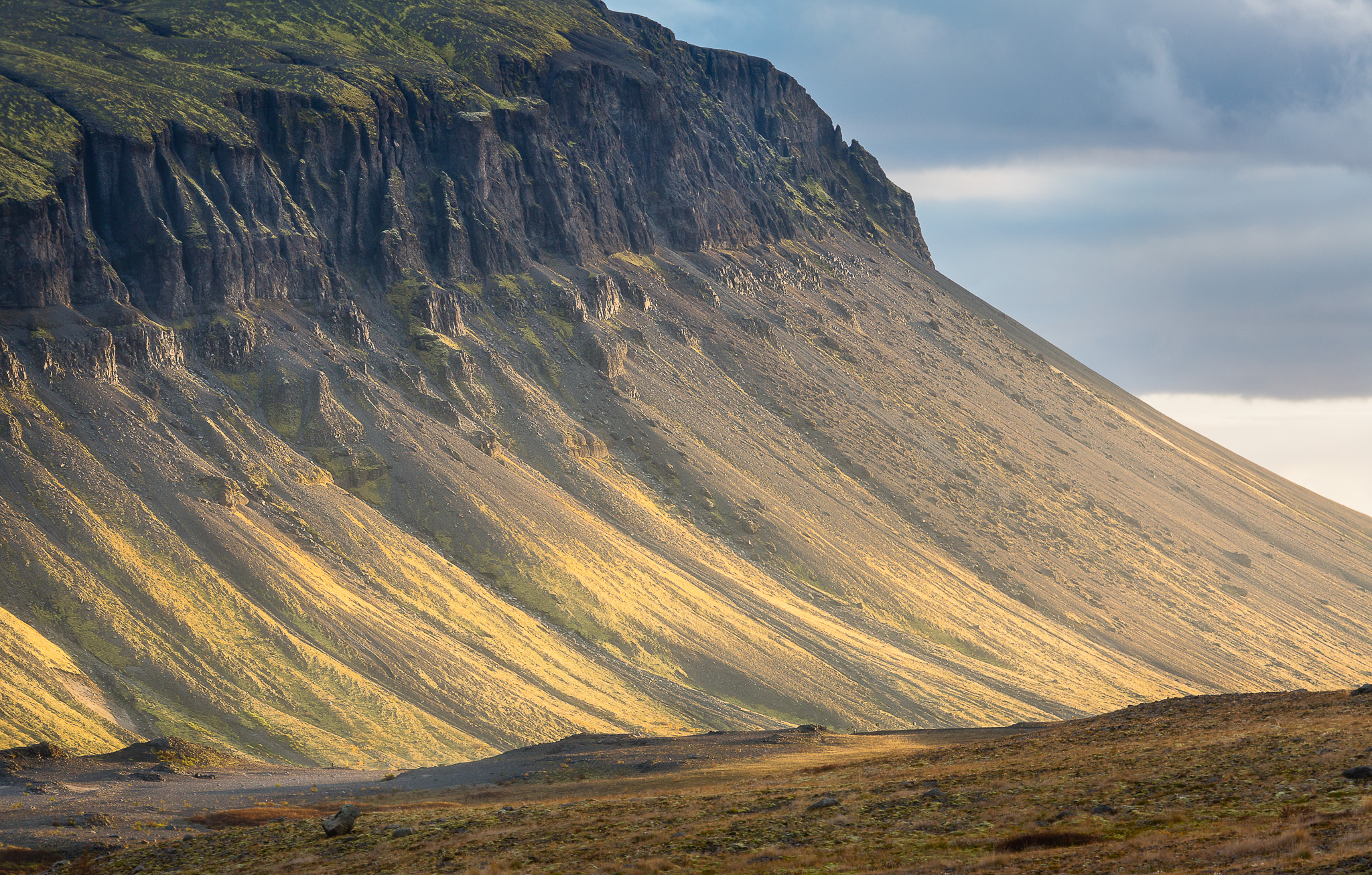 Icelandic landscape bathed in afternoon light picture